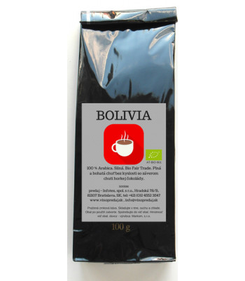 Bolívia BIO Fairtrade pražená káva 100g coffee