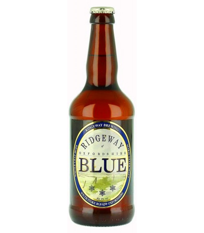 RIDGEWAY Brewing Oxfordshire BLUE beer - pivo whole leaf , obj. 0,5 L, Alk. 5 % obj